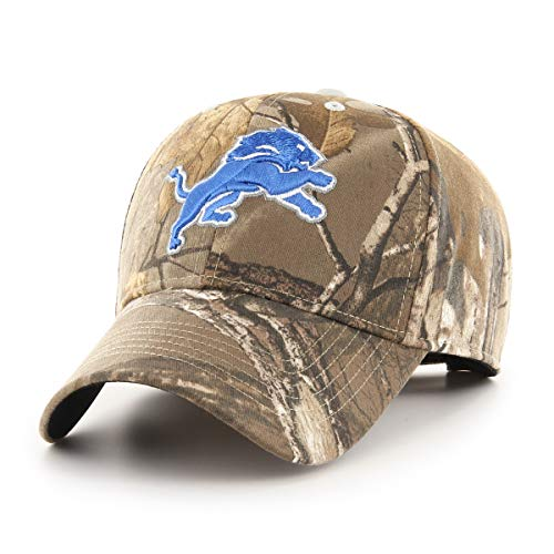 NFL Detroit Lions Men's OTS All-Star Adjustable Hat, Hickory Realtree, One Size