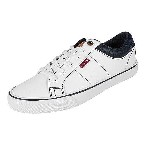 Levis, Abbot White 230344-794, Zapatillas Blancas para Hombre, ...