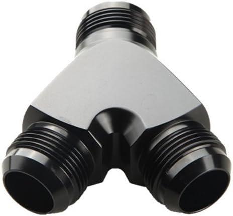 AN-10 10 AN To 2 x AN8-8AN Y-Block Adapter Fittings Aluminum Black