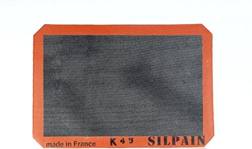 Silpat Silpain Premium Non-Stick Silicone Baking Mat for Bread, 11-5/8 inch x 16-1/2 inch, Black