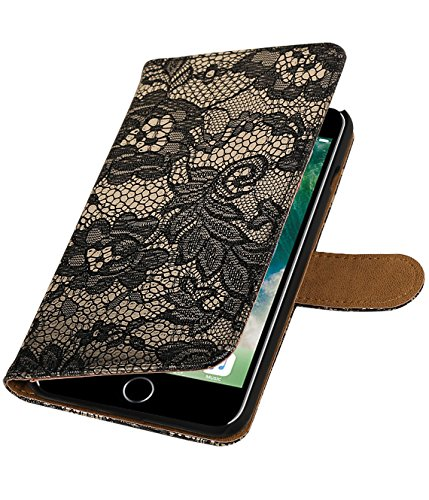 MobileFashion Dentelle Book Cases pour Iphone 6 plus Portefeuille Case Cover Booktype avec Slots pour cartes et support