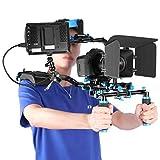 Neewer Kit Sistema Creación Video Película con F100 7 Pulgadas 1280x800 IPS Monitor Campo(Soporte 4K Entrada) y Brazo Rótula para Cámaras DSLR Videocámaras (Batería No Incluida)