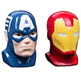 Marvel Avengers Captain America and Iron Man Ceramic Salt and Pepper Shakers