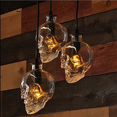 Vintage retro stye glass skull ceiling pendant light lamp shade vintage retro stye glass skull ceiling pendant light lamp shade lampshades shades aloadofball Gallery