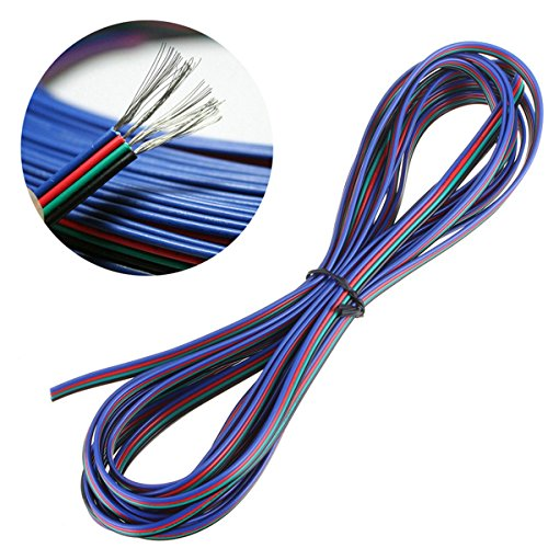 5050 4Pin LED Strip Connector Kit - 10mm RGB LED Connector Kit includes 32.8FT RGB Extension Cable, 10x LED Strip Jumper, 10x L Shape Connectors, 10x Gapless Connectors, 20x LED Strip Clips by iCreating (Image #2)