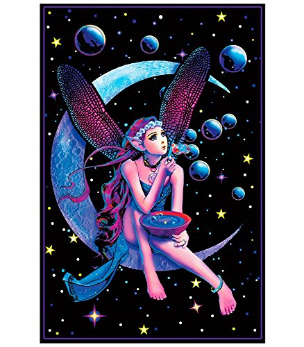 Fairy Dream Flocked Blacklight Poster by Opticz