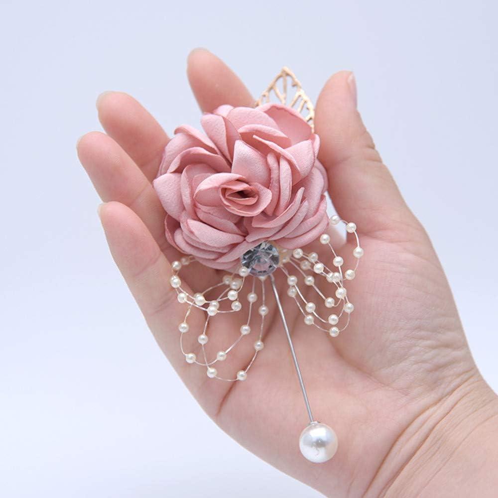Gentlemans Essentials Premium Handmade Flower Lapel Pin Boutonniere,airy Blue Pack of 4