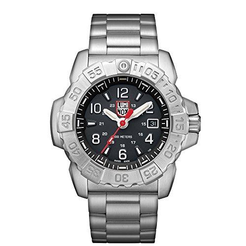 Luminox Men's SEA Swiss-Quartz Watch with Stainless-Steel Strap, Silver, 24 (Model: 3252 ()