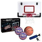 Iserlohn Mini Basketball Hoop, Over The Door Use - Include 2 Quiet Shooting Ball a Pro-Mini Basketball, Air Pump, Design Home Office