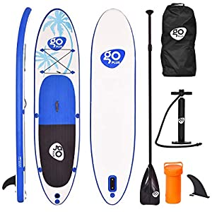 Goplus 10/11ft Inflatable Stand Up Paddle Board, 6 inch Thick Non-Slip Deck, with Free Premium SUP Accessories, Backpack…