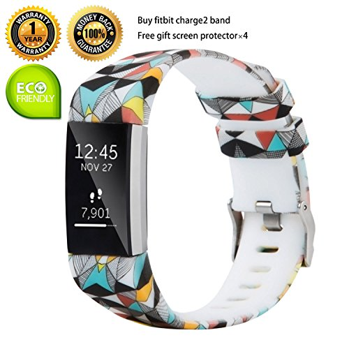 for Fitbit Charge 2 Bands Replacement Bands Adjustable Accessory Wristbands for Fitbit Charge 2 Large Small Variety of Colors Patterns