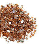 Mr. Fireglass 1/4″ Reflective Fire Glass with Fireplace and Fire Pit, 10 lb, Copper