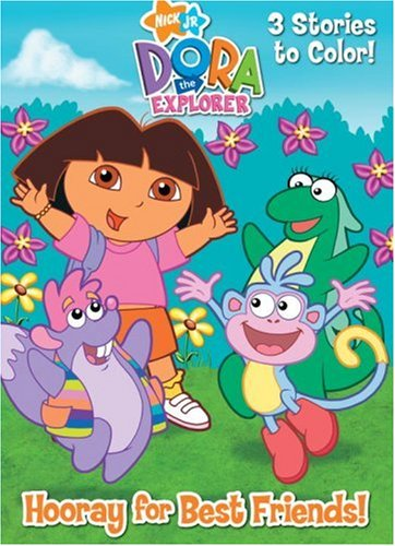Hooray For Best Friends Dora The Explorer Deluxe Coloring Book Golden Books 9780375839818 Amazon