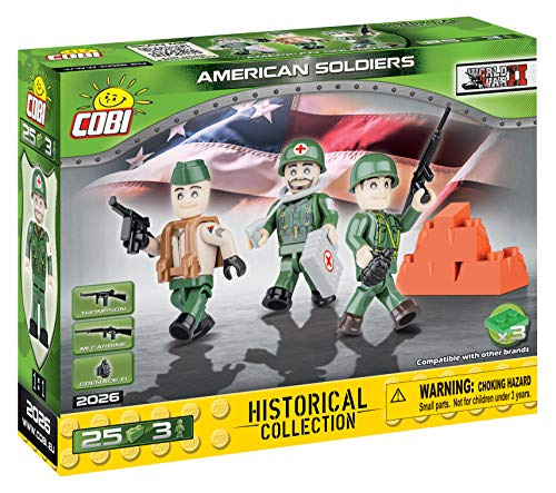COBI Historical Collection American Soldiers Toy, - Soldiers Collection