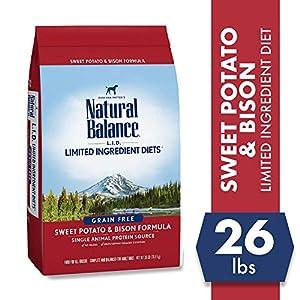 Natural Balance Limited Ingredient Diets Sweet Potato & Bison Formula Dry Dog Food, 26 Pounds, Grain Free