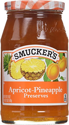 Smucker's, Apricot-Pineapple Preserves, 18oz Jar (Pack of 2)