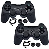 BlueLoong Wireless Double Vibration Controller For PS3 Black 2 pack