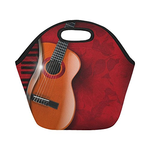 Gogogosky Custom Reusable Acoustic Brown Guitar And Piano Lunch Box Food Savers Storage Containers