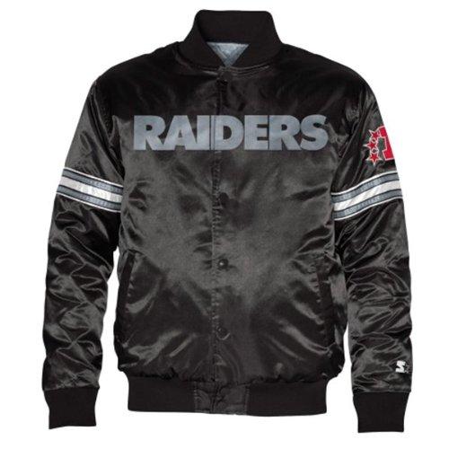 a19f527d Amazon.com : STARTER Oakland Raiders Youth Satin Jacket X-Large 18 ...