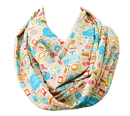 Software engineer infinity scarf birthday gift for her cloud computing anniversary gift for network engineer