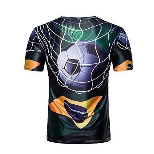 Camiseta Stretch Undershirts 2018 Sleeve Short Slim T Shirts Fit Super wxPqaW6OC