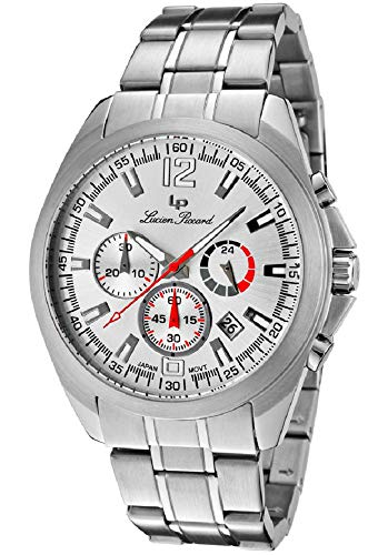 Lucien Piccard Men's 'Catalina' Stainless Steel GTS Chronograph Watch ()