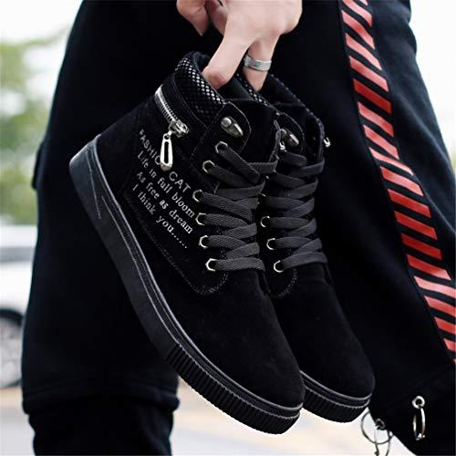 Mocassini Stivali Autunno Uomo Sneakers Nero Comodi Uomini Top Scarpe Tela Caviglia Alto Inverno Tw4d6xwz