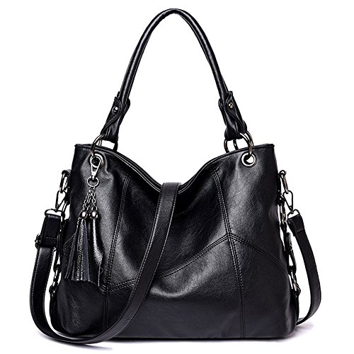 Women Black Large Capacity Hobo Handbags Bags Shoulder Fashion Duofeiya Bags Tote Handbags STqAa