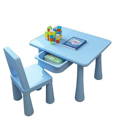 Tavolo E Sedie Per Bambini Da Esterno.Hhxd Tavolino Quadrato E Sedia Per Bambini Con Cassettiera