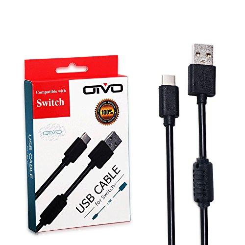 Cable de USB C (1.8m), Bullspring Cable USB de tipo C (USB 3.0) Cable de sincronización de carga rápida para Nintendo...