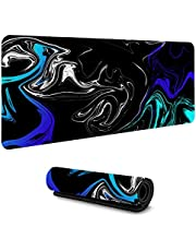 Gaming Mouse Pads Strata Liquid Abstract Graphics Gaming Computer Desk Mat Protector Big Keyboard Mouse Pad Easy Clean 900x400Mm/Xxl