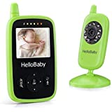 HelloBaby Wireless Video Baby Monitor Security Camera with 2-Way Talk & Night Vision and Temperature Sensor, Long Range Transimition