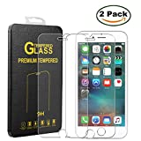 [2 Pack] Innker iPhone 6 / 6S 4.7 Inch Screen Protector, [Tempered Glass] 0.2mm Ballistic Glass Maximum Impact Protection 99.99% Crystal Clear HD Glass for iPhone 6/6S [Lifetime Warranty]