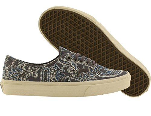 VANS Authentic CA Womens Size 6.5 Paisley Charcoal Skateboarding Fashion Shoes