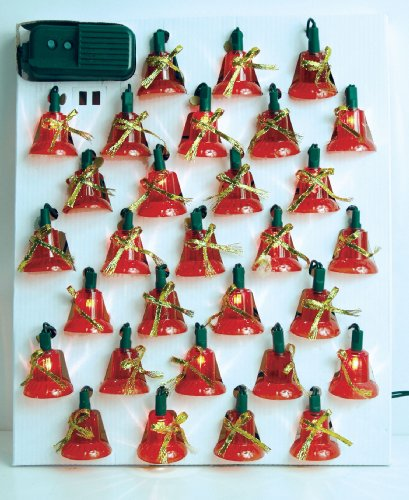 Set of 30 Musical Bell Lights w/ 7 Function Controller