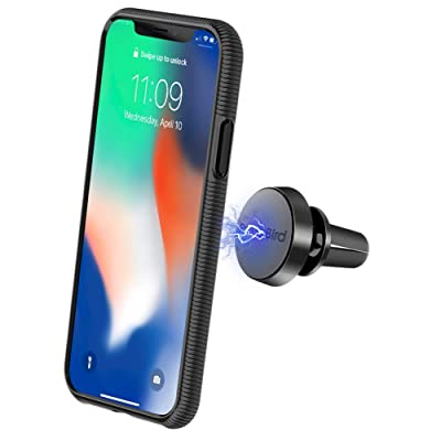 2IN1 Phone Case & Car Phone Holder Phone Case for iPhone X/XS Magnetic CradlCar Phone Holder Cradle-Less Car Mount Phone Holder Windshield Dashboard Mount