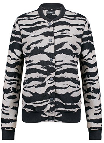[Wantdo Women's Varsity Bomber Jacket With Baseball Collar(Brown,Small)] (Pirate Coat For Sale)