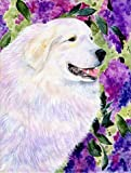 Caroline's Treasures SS8474CHF Great Pyrenees Flag Canvas, Large, Multicolor