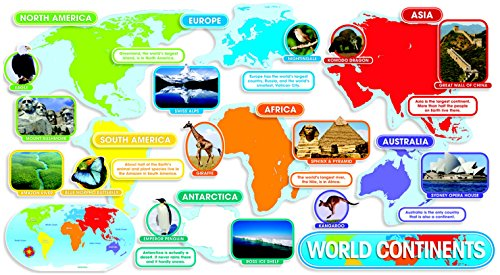 (Scholatic 9780545118392 World Continents Design Bulletin Board Set)