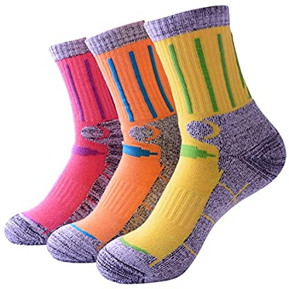 3 Pairs Men Women Hiking Walking Socks - UK Size 2-6.5, Anti Blisters, Soft, Warm, Comfortable, Breathable Nature Cotton… 1