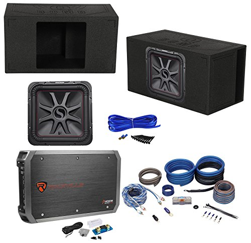 "KICKER 45L7R152 15"" 1800 Watt L7R Car Subwoofer+Ported Box+Mono Amplifier+Wires"