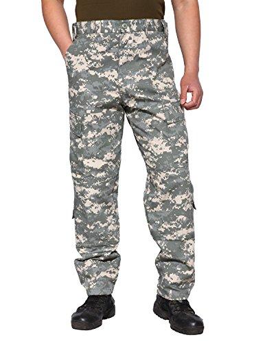 Camo Combat Pants (TACVASEN Men's Outdoor Active Military Cargo Camouflage Tactical Combat Pants Trousers S ACU)