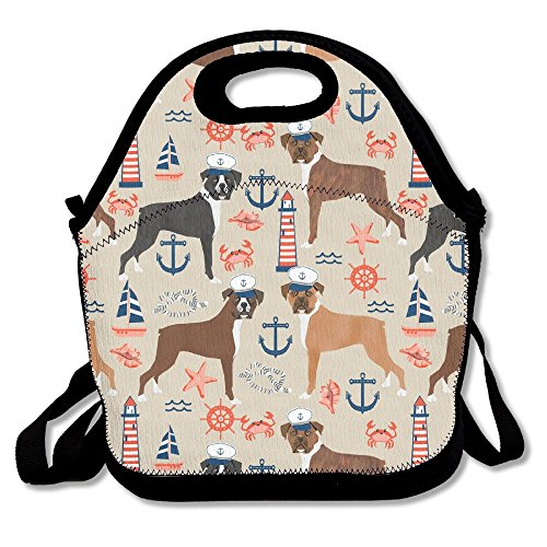 ical Boxer Dogs Insulated Lunch Bag Picnic Lunch Tote For Work, Picnic, Travelling (Shih Tzu Poodle Puppies)