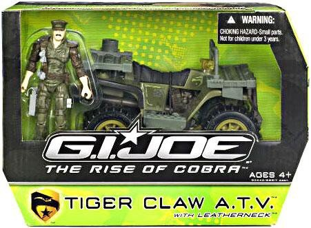 Claws Joe Gi (G.I. Joe The Rise of Cobra Alpha Vehicle Tiger Claw ATV with Leatherneck Action Figure)