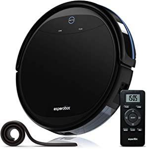 Robot Vacuum Cleaner,Experobot MasterClean X5 2600mAh Li-ion Battery with Self-Charging,Smart Sensor Anti Drop/Collision, Multiple Cleaning Modes Vacuum Cleaner