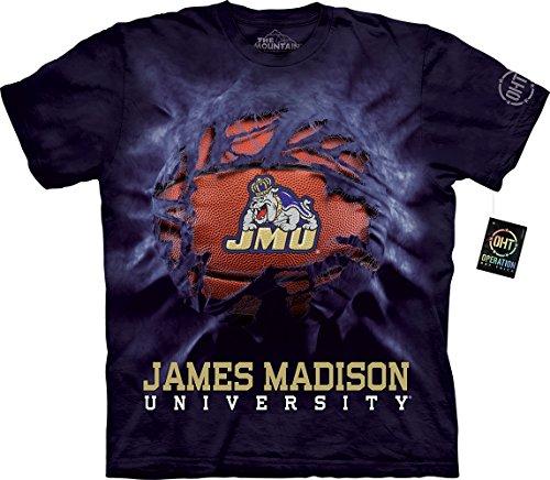 The Mountain Men's Big and Tall James Madison University Basketball Breakthrough, Purple, 5XL