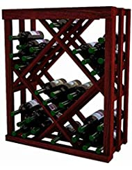 Wine Cellar Innovations DAH CM ODIAM LAQG1 A3 Designer Series Open Diamond Bin Wine Rack Allheart Redwood With Lacquer Finish Classic Mahogany Stain