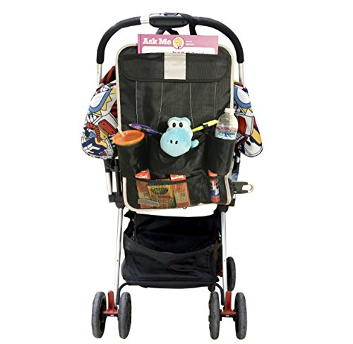 Car Back Seat Organizer & Car Seat Protector with 9-compartments for kids Travel Accessories Including Ipad/Tablet Holder. Echo Friendly with Reinforce Material for extra storage by FlowBargains (Image #3)