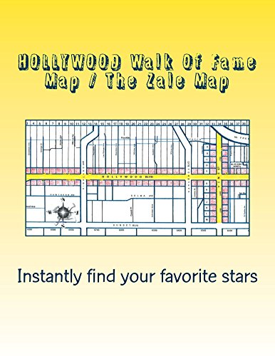 HOLLYWOOD Walk Of Fame Map / The Zale Map 2015 Edition: How Many Stars On HOLLYWOOD - Of Hollywood Map Blvd