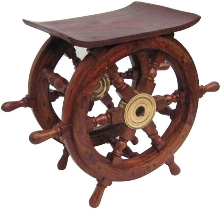 Ship Wheel Table 18 Nautical Decor